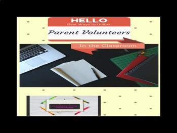 Parent Volunteer Pack
