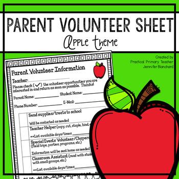 Parent Volunteer Sheet - Apple