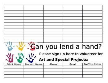 Parent Volunteer Sign Up