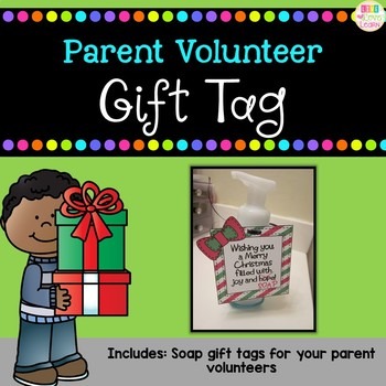 Parent Volunteer Soap Gift Tags