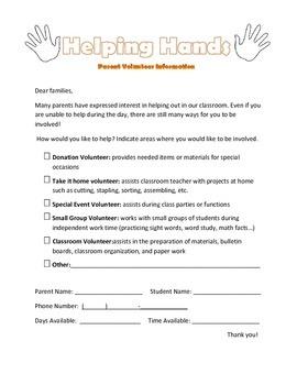 Parent Volunteer Survey (English & Spanish)