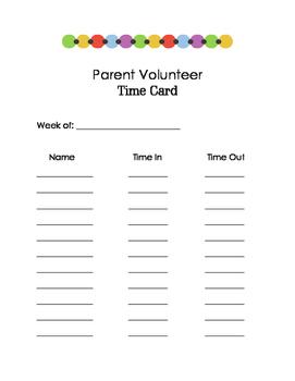 Parent Volunteer Task Tub