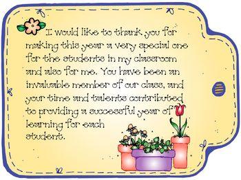 Parent Volunteer Thank You By Horner S Dugout Teachers