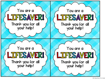 photo relating to You're a Lifesaver Printable identified as Youre a Lifesaver Reward Tag Freebie
