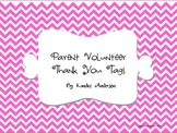 Parent Volunteer Thank You Tags