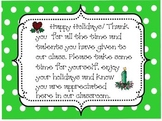 Parent Volunteer Winter Holiday Tags