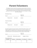 Parent Volunteers