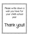 Parent Wishes