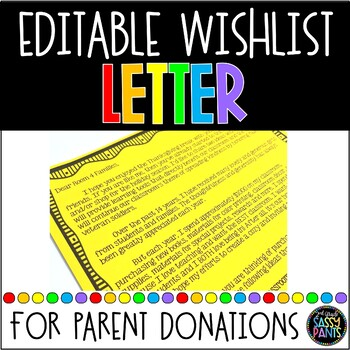 Parent Wishlist Letter