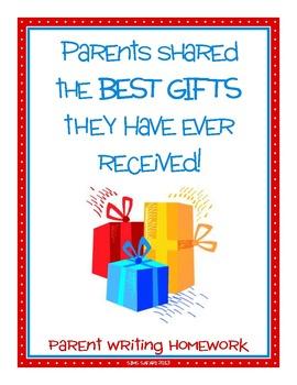 Parent Writing Homework {Best Gift}