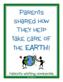 Parent Writing Homework {Earth Day}