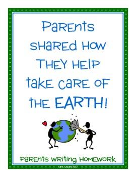 Parent Writing Homework {Earth Day}