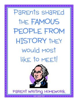 Parent Writing Homework {Famous Person in History}