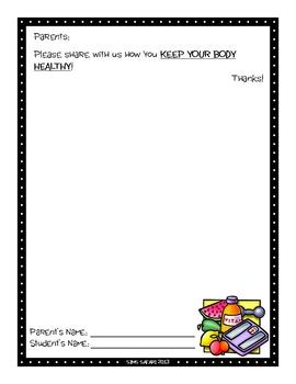 Parent Writing Homework {Healthy Body}