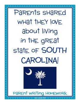 Parent Writing Homework {Living in South Carolina}