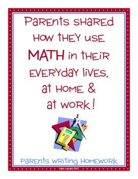 Parent Writing Homework {Math}