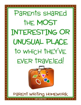 Parent Writing Homework {Most Interesting Place}