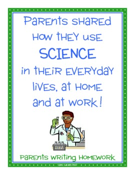 Parent Writing Homework {Science}