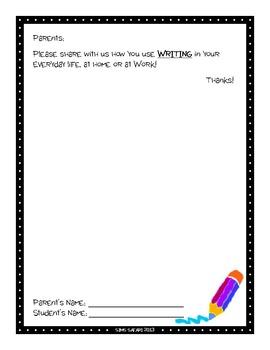 Parent Writing Homework {Writing}