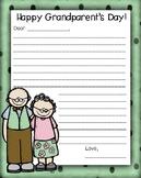Parent and Grandparent Letters
