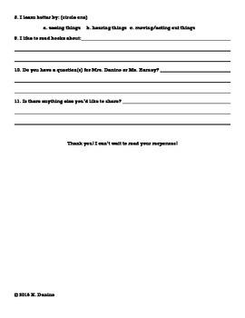 Parent and Student Back to School Survey Bundle