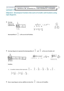 Parent and Student Homework Helper for Grade 4 Math Module 5