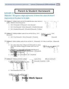 Parent and Student Homework Helpers for 4th Grade Math Module 1