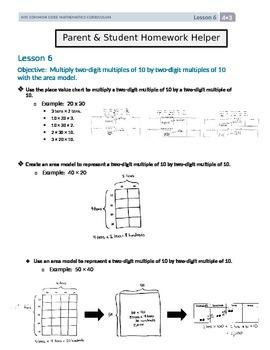 Parent and Student Homework Helpers for Grade 4 Math Module 3