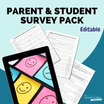 Parent and Student Survey Pack