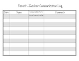 Parent and Teacher Communication Log