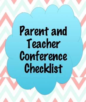 Parent and Teacher Conference Checklist