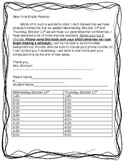 Parent and Teacher Conference Letter