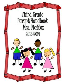 Parent Handbook of all Classroom Policies and Procedures