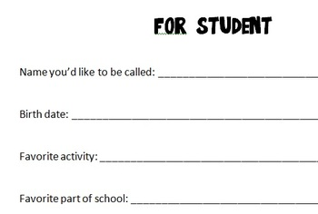Parent and student information sheet
