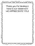 Parent appreciation letter