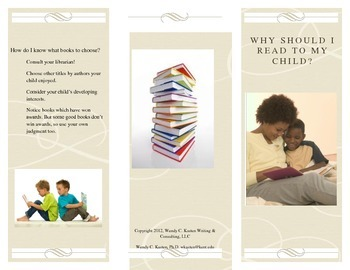Parent brochure: Why Should I Read to my Child?