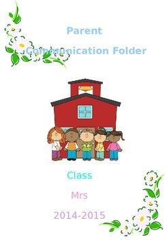 Parent communication log binder cover