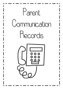 Parent communication records