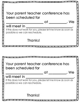 Parent conference scheduled