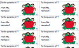 Parent labels for the whole year (editable)