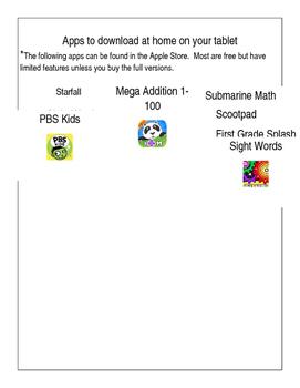 Parent letter about educational apps