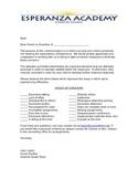 Parent letter about student concerns (EN and ES)