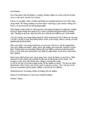 Parent letter for beginning readers