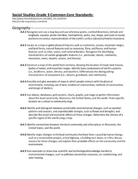 Grade 3 Common Core Standards (Math, Reading, Language Arts, Sci, Soc Stu)