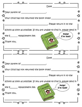 Parent letter for lost or damaged classroom books (Bilingual Spanish-English)