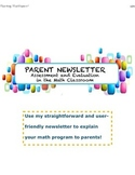 Parent newsletter for math program