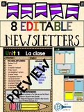 Parent newsletter template EDITABLE quick & easy  English/Spanish