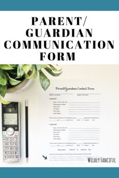 FREE Parent or Guardian Contact Information Form
