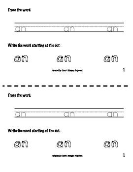 Sight Word Book - an