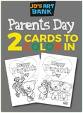 Parent's Day Color-Your-Own Cards (2 Options)